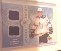 07-08 2007-08 UPPER DECK ICE JACK JOHNSON FRESH THREADS JERSEY RC FT-JJ KINGS