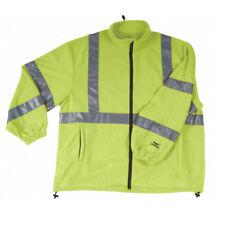 Fleece Safety Jacket - Medium Lime Greem ANSI Class 3 Condor 2RE44