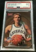 Mavericks 1998 Fleer Brilliants Rookie Basketball Card DIRK NOWITZKI PSA 9 MINT