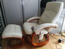 Massagesessel  inkl. Hocker- Creme/Beige