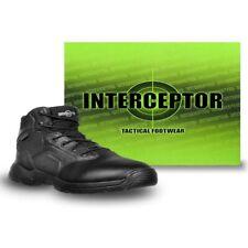 Interceptor Men's Canton Waterproof Work Boots, Slip Resistant, Black SIZE 9 1/2