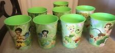 TINKERBELL FAIRIES PARTY CUPS 14 Oz Reusable Plastic Lot of 8