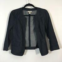 Ann Taylor LOFT Blazer Women XS Open Front Jacket