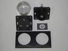 Genuine Berker 240v and 12v Socket kit, inc frame and contact box Anthracite