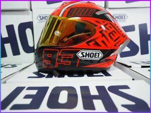 Marc Marquez 93 SHOEI Motorcycle Full Face Helmet X14 Spirit 3 Ducati Red Gold