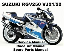 SUZUKI RGV250 VJ21 VJ22 Owners Service Workshop Repair Parts Manual PDF on CDR