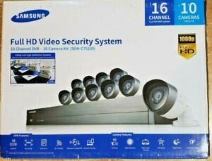 SAMSUNG FULL HD SECURITY SYSTEM 16 CHANNEL 10 CAMERAS INCLUDED