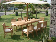 7 PC TEAK DINING SET GARDEN OUTDOOR PATIO FURNITURE R09 - GIVA DECK COLLECTION