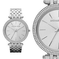 Michael Kors MK3190 Zirkonia Silber Edelstahl Damenuhr Armbanduhr