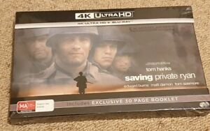 SAVING PRIVATE RYAN - INCLUDES 30 PAGE BOOKLET (4K ULTRA HD + BLU-RAY) SEALED!!!