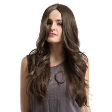 24'' Perruque Femmes Longue Brun Naturelle Bouclée en Cheveux Synthétique
