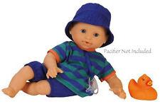 "Corolle DOLL 12"" BATH BOY Vinyl Baby Play Rubber Duck France Blue Eyes NEW"