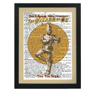 Wizard of Oz Tin Man Vintage Poster Upcycled Dictionary Art Print Unique Gift