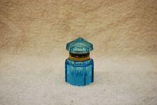 BEAUTIFUL VICTORIAN CUT GLASS BLUE INKWELL 1890'S
