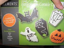 Tovolo Elements Halloween Cookie Cutter Set Bat, Pumpkin, Ghost, Coffin, Tombstn