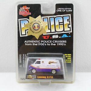 Police USA Lansing IL P.D. Racing Champions 1999  Die Cast Van