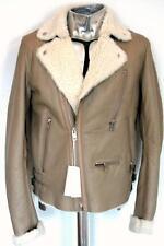 Diesel Lambskin Leather Shearling Jacket Brown Large RRP £1280 coat sheepskin