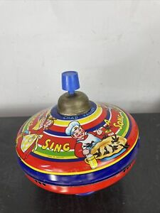 Vintage CHAD VALLEY No.10096 Spinning Top Sing A Song Of Sixpence Decoration