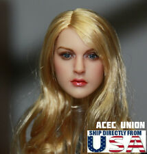 1/6 KIMI KT007 Female Head Sculpt Blonde Hair  For Hot Toys Phicen U.S.A. SELLER