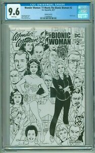 Wonder Woman '77 Meets the Bionic Woman # 2 CGC 9.6 NM+ Sketch Cover D Variant