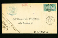 Italy Stamps Rare Cover to Parma Clean Scarce Backstamped 1883