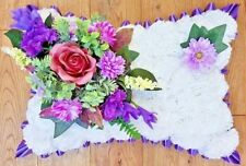 Pillow Shape Silk Artificial Funeral Flowers Wreath/Memorial/Grave/Tribute 16x10