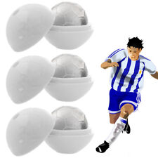 Set of 3 Round Sphere Soccer Ball Ice Cube Molds - Creates 1.5 Inch Cubes
