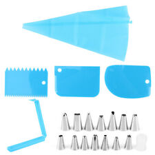 20Pcs Cake Baking Decorating Kit Set Piping Nozzles Cream Squeeze Bag Tool New