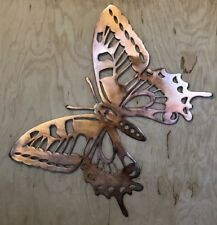 Butterfly Copper Patina Metal Wall Art