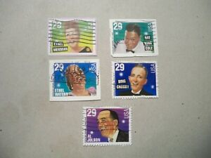 USA Used, 1994 Issue, 29 Cent Popular Singers (Set of 5)