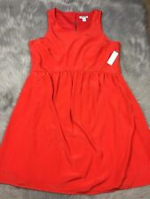 NWT Old Navy Red Sleeveless Polyester Womens Dress Sz M