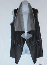 Jones New York Signature Woman Plus Size Faux Leather Asymmetrical Vest 3X NWT