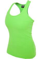 urban Classics Damen Tank Tops Ladies Neon grün