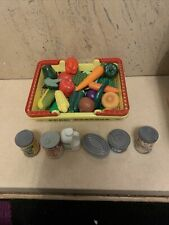 Basket Full Of Vegatables And Tins Play Food