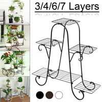 3/4/6/7 Tier Metal Plant Stand Garden Decor Planter Holder Flower Pot Shelf Rack