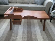 Vintage Hand-Crafted Wood Cobbler coffee table w/drawers Home Lodge Decor