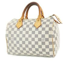Authentic LOUIS VUITTON Speedy 25 Damier Azur Boston Hand Bag Purse #36493