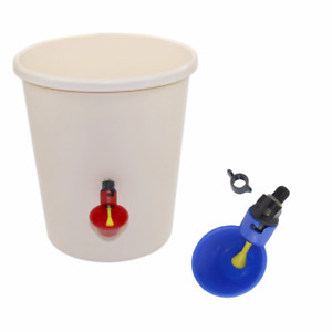 1 Pcs Chicken Drinking Cup Automatic Drinker Chicken Feeder  Plastic Poultry Wat