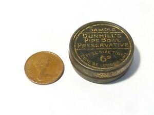 Vintage Sample Tin Dunhill's Pipe Bowl Preservative Advertising SAMPLE