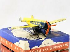 METTOY Pays de Galles n°2005 avion tôle lithographiée mécanique boîte 10 cm RARE