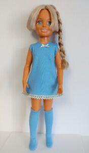 CRISSY DOLL CLOTHES Retro blue DRESS and BOOTS Handmade Mod Fashion NO DOLL d4e