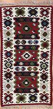 Beautiful Bessarabian - 1960s Antique Romanian Kilim - Tribal Rug - 2.6 x 4.4 ft