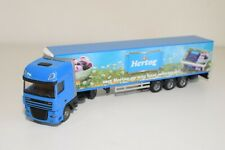 A3 1:50 LION TOYS DAF XF HERTOG IJS TRUCK WITH TRAILER NEAR MINT