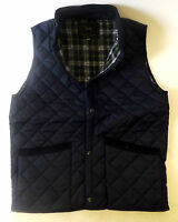 New Mens Quilted Padded Riding Bodywarmer Waistcoat Gillet Blue XS S M L XL XXL