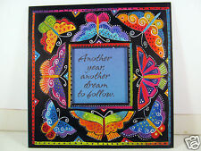 Laurel Burch Happy Birthday Greeting Card Bright Butterflies Follow Your Bliss