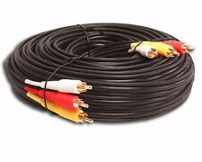 50 FT HEAVY DUTY THICK RG59 3-RCA COMPOSITE AUDIO VIDEO SHIELDED GOLD CABLE HDTV