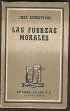 Jose Ingenieros Book Las Fuerzas Morales 1ºEd 1961