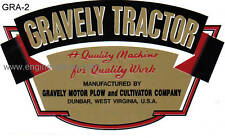 Gravely Tractor D and L early type decal gold, red, black & white