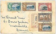 TRINIDAD & TOBAGO  POSTAL HISTORY: 1933 COVER TO FRANCE