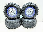 TRAXXAS SUMMIT 1/10 Canyon AT Tires 17mm Purple Chrome Geode 3.8 Wheels 56076-4 photo